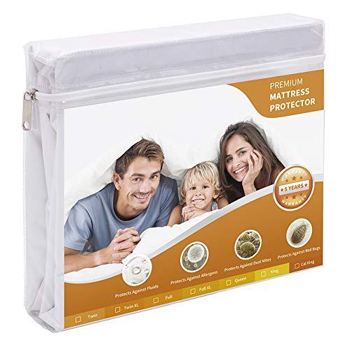 Wasserdichter Matratzenschoner, AngLink matratzenbezug 90x200 Anti-Allergisch gegen Milben und Schimmel - Matratzenbezug mit