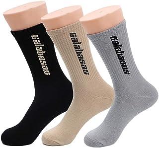 TTD, 3 paquetes de calcetines de moda callejera con calcetines de algodón de tubo Calabasas para hombres y mujeres medias de skate