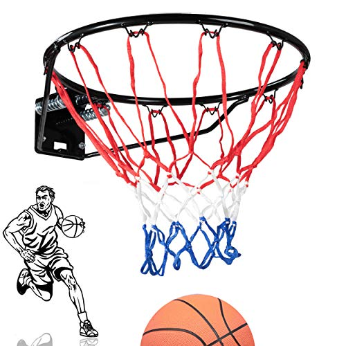 Lions Basketball Hoop Wall-Mounted Full Size with Net and Fixtures for Home and...