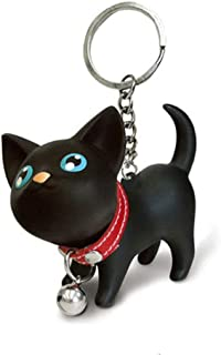 Cute Cat Kitten Cartoon Dolls KeyChain Women KeyRing Car Key Chains Kids Toy Charms Pendant for Pet Lover