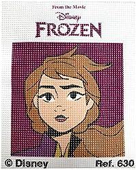 Colecci/ón Frozen II Haberdashery Online Kit Medio Punto para ni/ños 18 x 15 cms Modelo 631