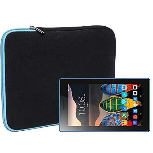 Slabo Tablet Tasche Schutzhülle für Lenovo Tab3 7 Essential Hülle Etui Case Phablet aus Neopren – TÜRKIS/SCHWARZ