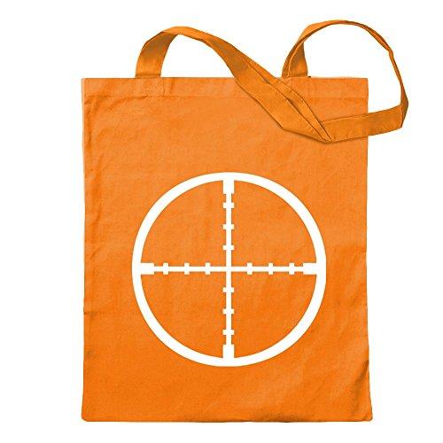 Kiwistar Cannocchiale Crosshair Borsa di iuta - Proverbi stampati che raccontano modelli Borsa di fitness per il fitness a forma di borsa di cotone appesa a un manico lungo