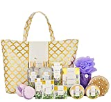 Spa Luxetique Lavender Spa Gift Baskets for Women, Luxurious 15pc Gift Baskets