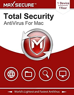 Max Secure Software Total Security for Mac 2019 | Antivirus | Internet Security | 1 Device | 1 Year [Mac Online Code]