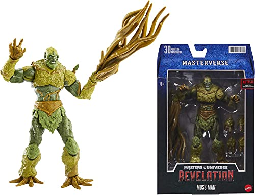 Masters of the Universe GYV11 Masterverse Collection Moss Man Actionfigur, ca. 18cm große MOTU Actionfiguren zum Spielen und Sammeln, Geschenk für Kinder ab 6Jahren und Sammler jeden Alters Bunt