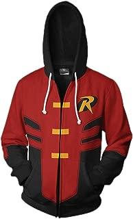 Xinxin Robin Tim Drake 3D Anime Cosplay Cardigan Zip Hoodie Unisex Adult