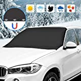 omitium Frontscheibe Abdeckung Magnet Eisschutzfolien Auto Abdeckung Scheibenabdeckung Windschutzscheibe Faltbare