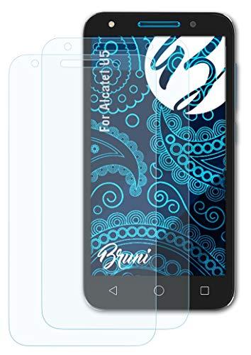 Bruni Schutzfolie kompatibel mit Alcatel U5 Folie, glasklare Bildschirmschutzfolie (2X)