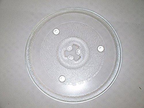 Mikrowelle Drehteller UNI DU = 270 mm / 27 cm / 27,0 cm Mikrowellenteller/Glasteller für Mikrowelle/Ersatzteller/Ersatz-Drehteller/Trapez Vertiefung (GLAS)