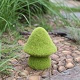 Jingli Adorno para jardín, diseño de seta musgosa para jardín, yard, hada de primavera – Decoración de avellana – Figura decorativa de 15 cm de altura