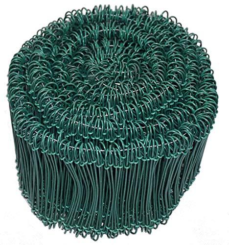 Novatool Drahtsackverschluss 1000 Stück 1,4 x 100mm Grün ummantelt Rödeldraht Verschlussdraht Bindedraht Sackverschlüsse