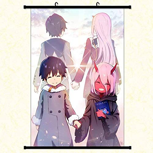 Hogar Cocina Accesorios Anime Manga Darling In The Franxx Wall Scroll Painting 40X60 Picture Wallpaper Stickers Poster, M