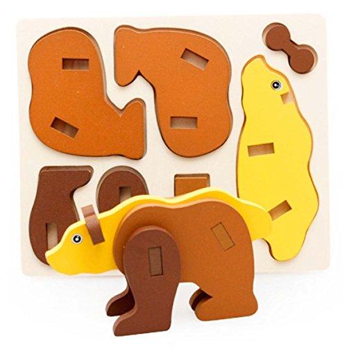 Polar Bear Puzzle Dimensional Bois désassemblage (3-6 ans)
