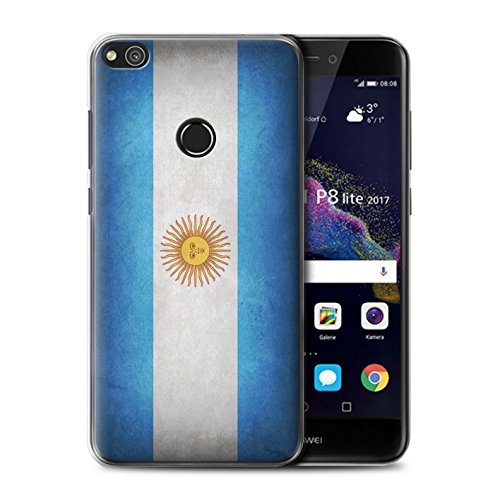 STUFF4 Phone case/cover/Skin/huagp-cc/Flag Collection, plastica, Argentina/Argentinean, Huawei P8 Lite (2017)