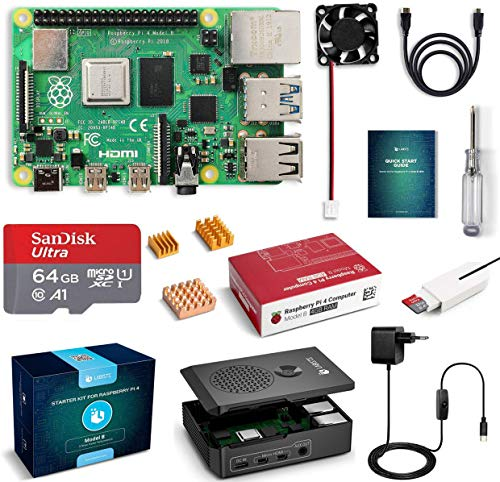 LABISTS Raspberry Pi 4 Model B Kit de 4 GB con SD de 64GB...
