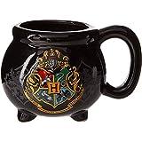 Silver Buffalo Warner Bros Harry Potter Hogwarts School Crest Cauldron Ceramic Mug, 20-Ounces, Black