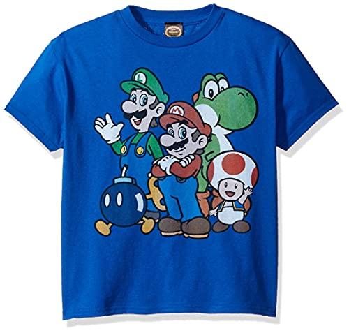 WFQTT Harajuku T-shirt Super Mario pour enfant garçon et fille Super Smash Bros 3D T-shirt Hip Hop Streetwear M Grands garçons