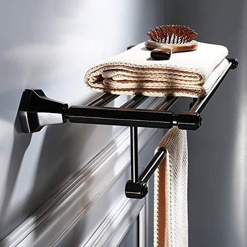 toallero de Pared Barra Doble 40 cm Metal MMWYC Toallero de Barra de lat/ón Macizo Cromado Pulido ba/ño