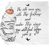 Under His Wings Gorro de muselina para bebé con cita de las Escrituras (Salmo 91) – 100% algodón org...