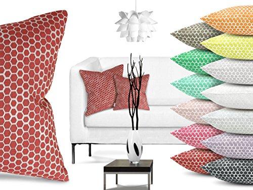 Trend-Collection Kissenhülle Inbus erhältlich in 13 modernen Farbkombinationen und 2 verschiedenen Größen, ca. 38 x 38 cm, rot