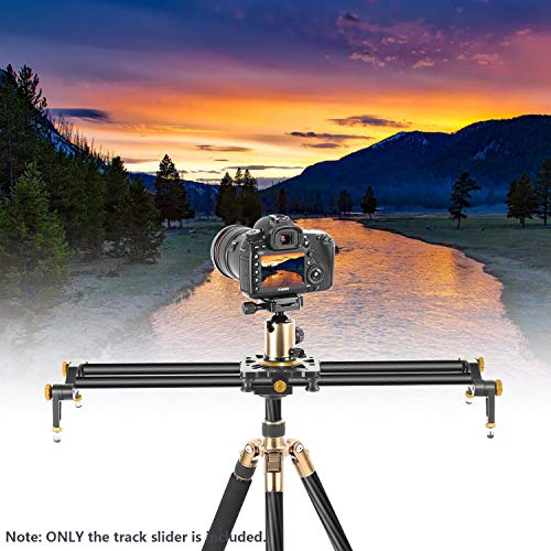 Neewer Carbon Fiber Camera Track Slider Video Stabilizer Rail with 6 Bearings (31.5
