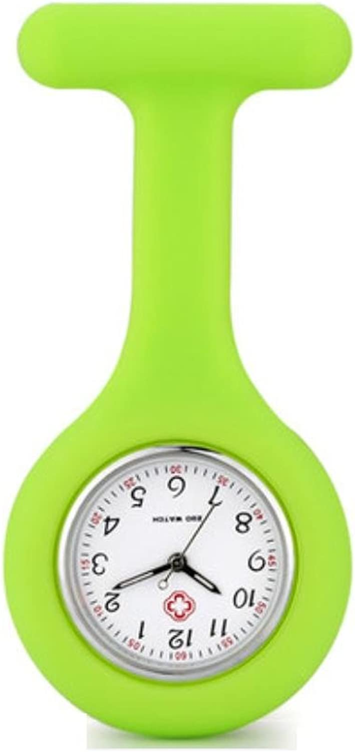 XM New MS hot cartoon nurse special table wall charts for medical chest pocket watch luminous fruit freezeproof hospital table , green