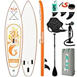 FunWater SUP Inflatable Stand Up Paddle Board 10'x31''x6'' Ultra-Light Inflatable Paddleboard with...