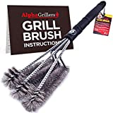 Alpha Grillers 18' Grill Brush. Best BBQ Cleaner. Safe for...