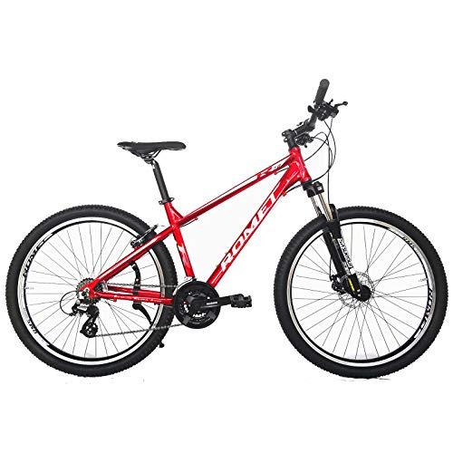 ROMET 27.5 Zoll Rambler R7 Mountainbike 21-Gang Kettenschaltung, Alurahmen (Rot)