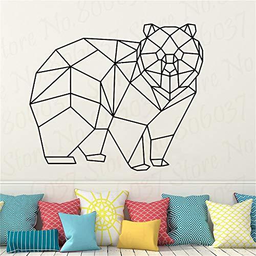wZUN Geometrische Bär Kunst Wanddekoration Aufkleber Home Interior Design Büro abnehmbare Vinyl Wohnzimmer Aufkleber 42X36cm