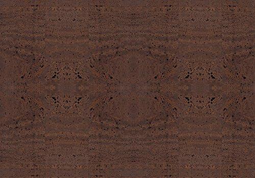 Simaru Kork/Korkstoff - Eine edle, vegane Leder Alternative - in vielen Farben (braun, 50 x 30 cm)