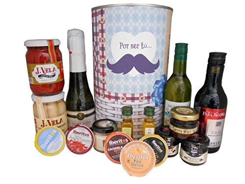 Lata personalizada con productos gourmet para regalos hombre