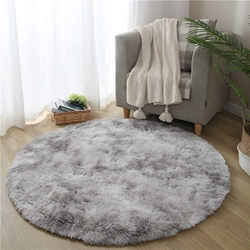 Haiba - Tappeto in finta pelle di pecora, in finta pelliccia, antiscivolo, per soggiorno, camera da letto, divano, pavimento, 140 x 140 cm