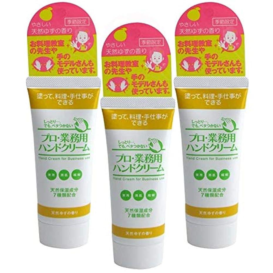 保育園失うステレオタイププロ業務用ハンドクリーム 天然ゆずの香り 60g 3個セット