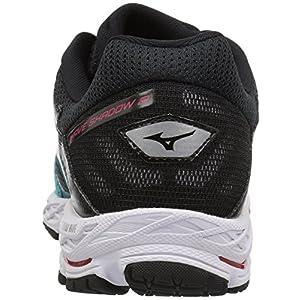 Mizuno Women's Wave Shadow 2 Running Shoe, Black/Trade Winds, 6.5 B US