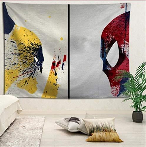 N/ A Spider-Man Tapestries Panno Appeso Sfondo Rivestimento Murale Cameretta Rinnovamento Letto Decorazione Arazzo Logo Personalizzato 130 * 150cm H