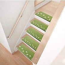 Staircase Carpet,Luminous Step Stair Mat Carpet Staircase Floor Mats Easy to Clean Anti-Skid Mats Non-Slip Stair-Steps Rug...
