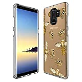 Samsung Galaxy S9 Plus Case Queen Bee,UV Print Clear Transparent Case Scratch Resistant Shock-Absorbing Case Soft Flexible Protective Case for Samsung Galaxy S9 Plus