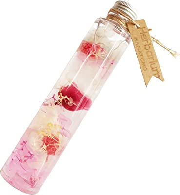 ハーバリウム プリザーブドフラワー ドライフラワー HANATOMO バラ 紫陽花 ギフト ボックス入り (ピンク&パープル)
