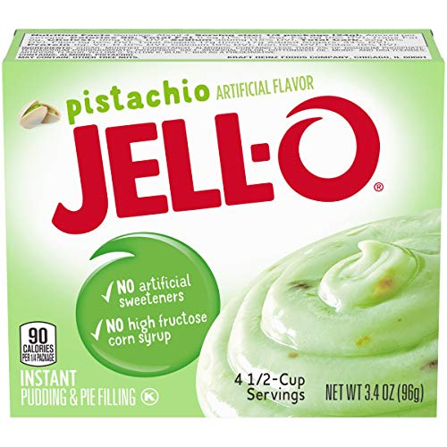 Jell-O Instant Pudding & Pie Filling, Pistachio, 3.4 oz