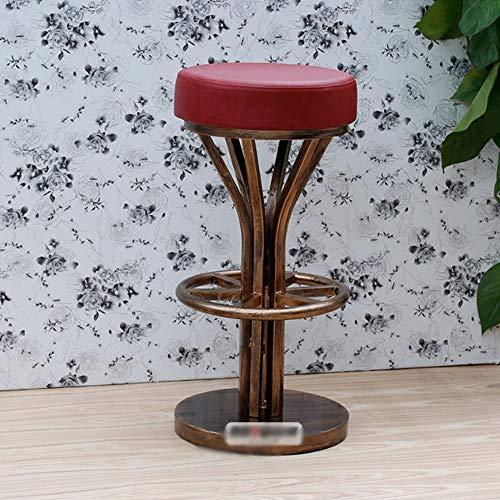 DSHUJC Silla de Bar Industrial Vintage Exquisita artesanía Soldadura Firme Trípode de...