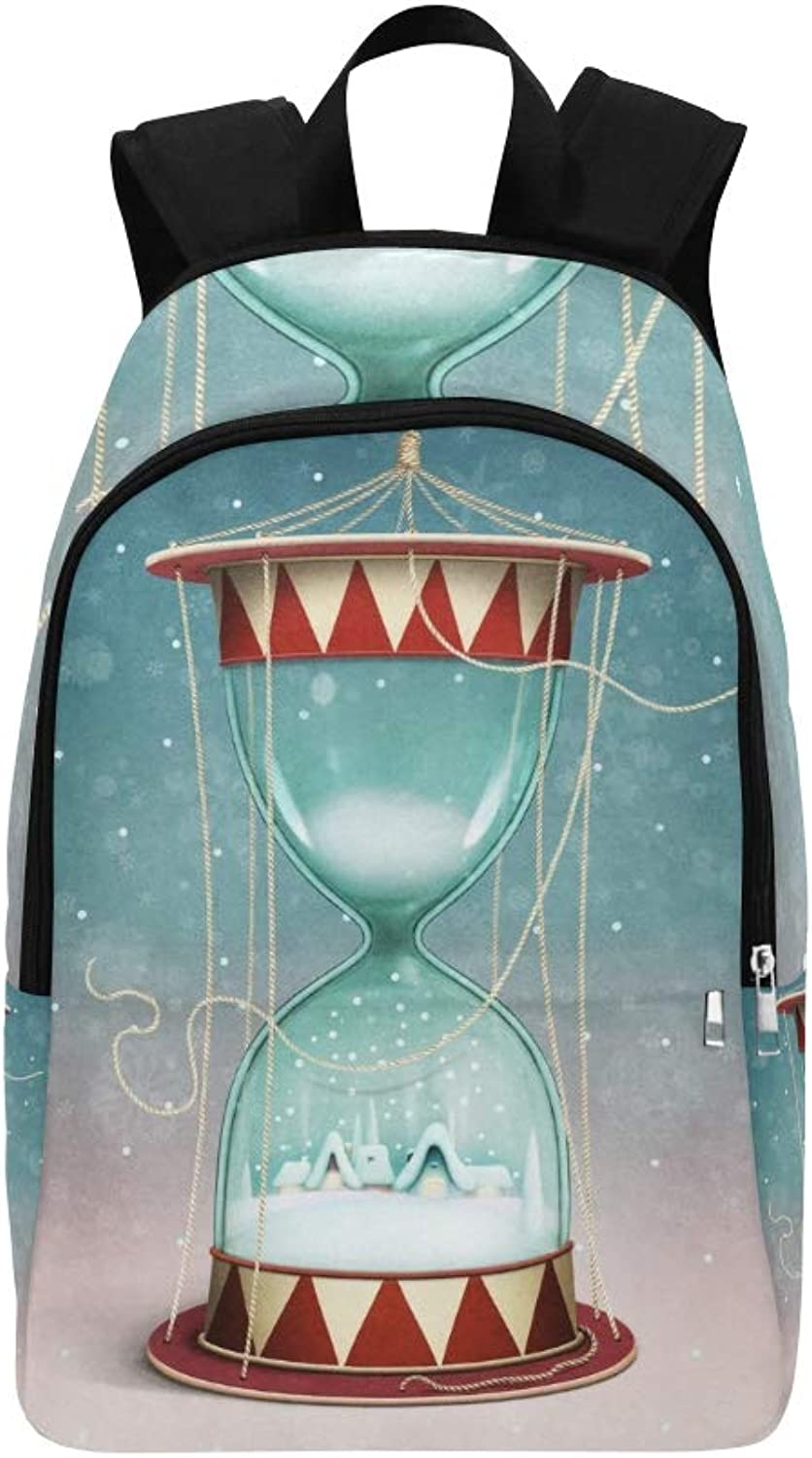 Holiday Greeting Card Poster Christmas New Casual Daypack Travel Bag College School Backpack for Mens and Women