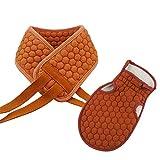 Lingqiqi Badhandschuhe Peeling-Handschuhe Baden Dusche Handschuhe Körper Waschen Net Clean Body Dead Skins Entfernen Unisex-Peeling (Farbe : Braun)