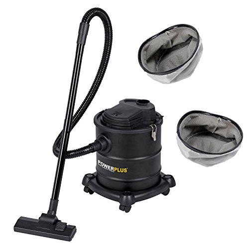 Aspiradora de cenizas 1200 W, 20 litros POWX308, incluye 2 filtros