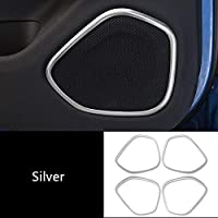 ボルボXC60 2018 2019 2020のための車のスタイリングウィンドウガラスリフティングフレーム装飾ステッカートリムインナードアハンドル変更されたデカール