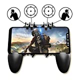 NOYMI Pubg Trigger Controller,Mobile Gamepad - 6 Finger Pubg Game Assistant with 4 Highly Sensitive...