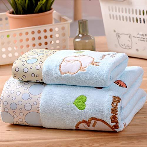 LYLEQ - Juego de Toallas de baño para Adultos, Snoopy Blue, Thicken 1 Bath Towel + 1 Towel Set