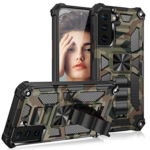 Croazhi S21 Ultra Case Cover Compatibile con Samsung Galaxy S21 Ultra 5G Custodia Protettiva Supporto Magnetico Camouflage Modello Case Cover con Supporto 360 gradi Outdoor Antiurto Bumper Custodia