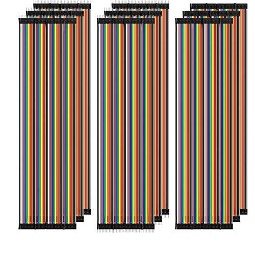AZDelivery 3 x Jumper Wire Kabel Set à 120 Stück je 20 cm M2M/ F2M / F2F für Raspberry Pi Breadboard inklusive E-Book!